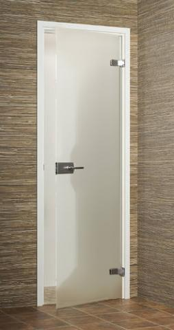 Dveře skleněné SATEN s rámem a kováním