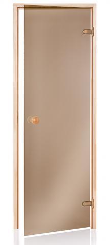 Saunové dveře BASIC 9x20 BRONZE (kouřové sklo)