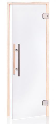 Saunové dveře PREMIUM 9x19 CLEAR (čiré sklo, olše)