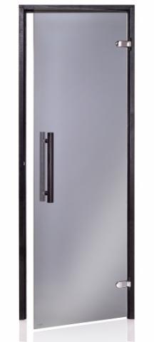 Saunové dveře BLACK 7x20 GRAY (kouřové sklo)