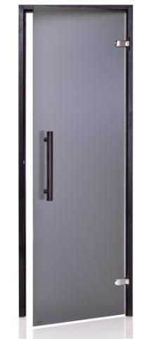 Dveře do sauny BLACK s pískovaným sklem 8x21 (790 x 2090 mm)