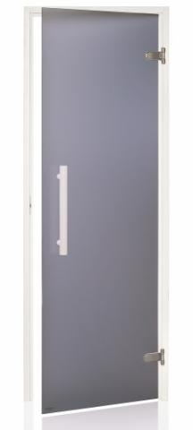Dveře do sauny WHITE s pískovaným sklem 8x21 (790 x 2090 mm)