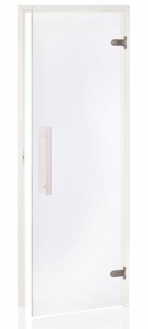 Saunové dveře WHITE 8x21 CLEAR (čiré sklo)