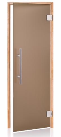 Dveře do sauny PREMIUM s pískovaným sklem 8x19 (790 x 1890 mm)