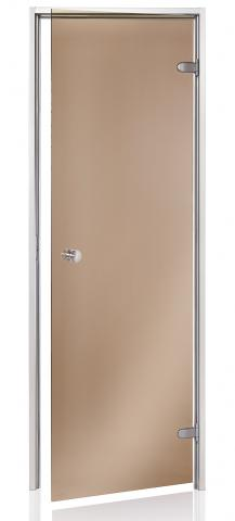 Dveře do páry BASIC 7x20 BRONZE (kouřové sklo)