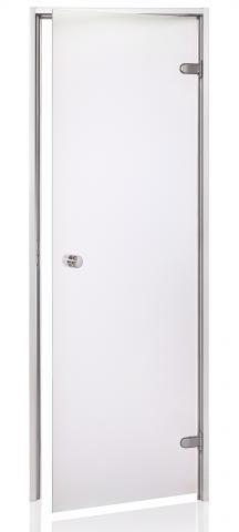 Dveře do páry BASIC s pískovaným sklem 8x19 CLEAR (čiré sklo)