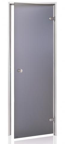 Dveře do páry BASIC s pískovaným sklem 7x20 GRAY (kouřové sklo)