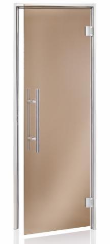 Parní dveře PREMIUM 7x21 BRONZE (kouřové sklo, hliník)