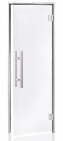 Parní dveře PREMIUM 8x21 CLEAR (čiré sklo, hliník)