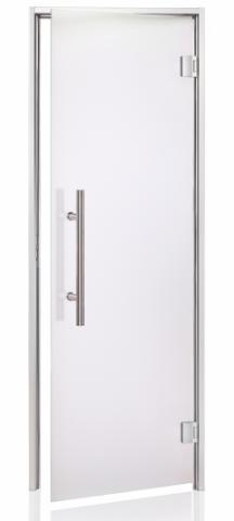 Parní dveře PREMIUM s pískovaným sklem 8x20 (790 x 1990 mm)