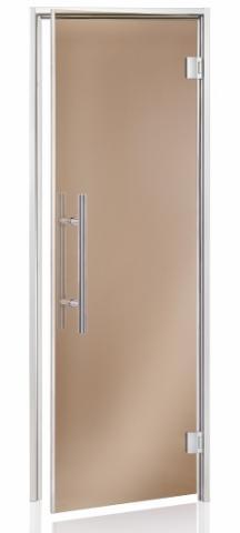 Parní dveře LUX 7x20 BRONZE (kouřové sklo, hliník)