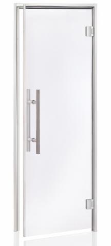 Parní dveře LUX 7x19 CLEAR (čiré sklo, hliník)