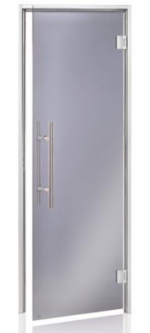 Parní dveře LUX 7x20 GRAY (kouřové sklo, hliník)