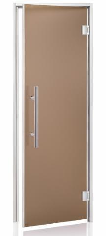 Dveře do páry LUX s pískovaným sklem 7x19 BRONZE (kouřové sklo)