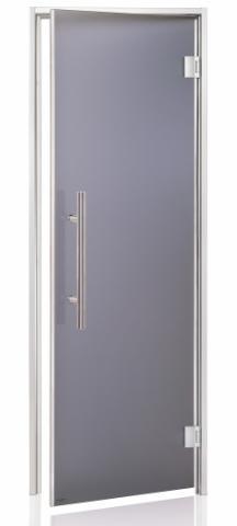 Dveře do páry LUX s pískovaným sklem 7x19 GRAY (kouřové sklo)