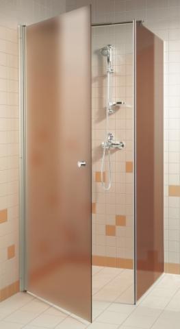 Skleněný sprchový kout s pískovaným sklem 7x7x20 BRONZE (kouřové sklo)