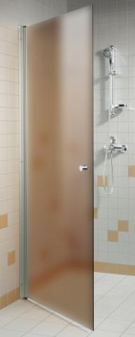 Dveře do sprchy  s pískovaným sklem 7x20 BRONZE (kouřové sklo)