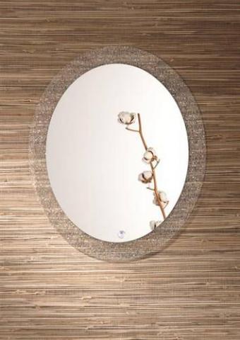 Antik zrcadlo se skleněným prstencem